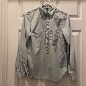 J CREW XS Lightweight Denim shirt